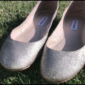 Steve Madden Gold Sparkly/Glitter Flats